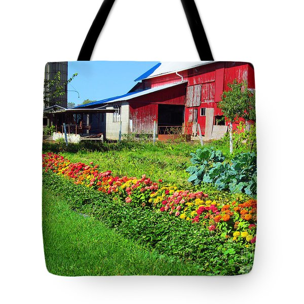 Barn And Garden Tote Bag by Tina M Wenger