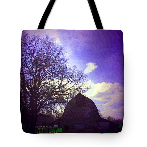 Barn And Oak Digital Painting Tote Bag by Joyce Dickens