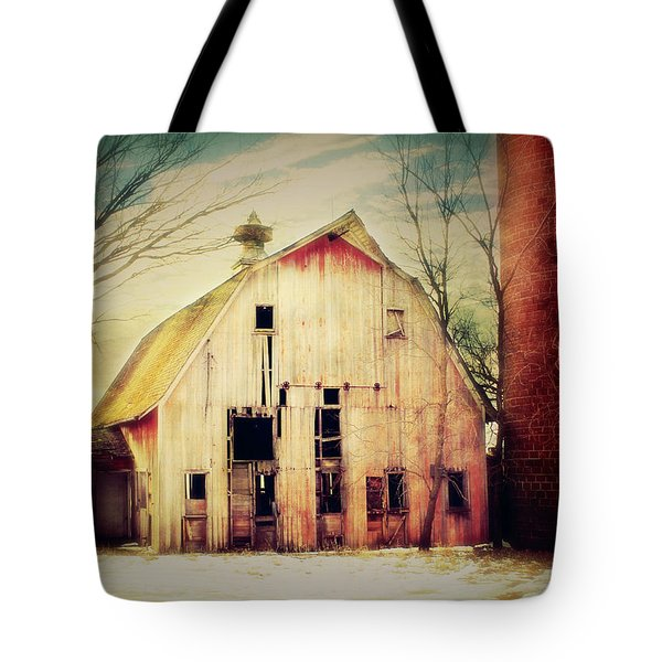 Barn and Silo Tote Bag by Julie Hamilton