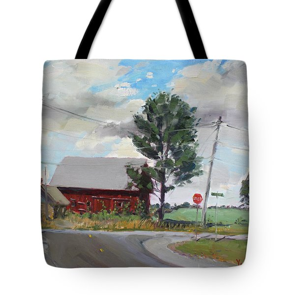 Barn by Lockport Rd Tote Bag by Ylli Haruni