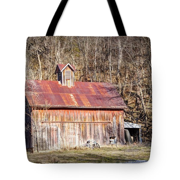 Barn by the Bluffs Tote Bag by Cricket Hackmann