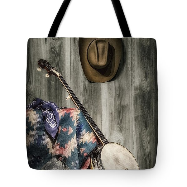 Barn Dance Hoe Down Tote Bag by Tom Mc Nemar