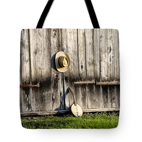 Barn Door And Banjo Mandolin Tote Bag by Bill Cannon