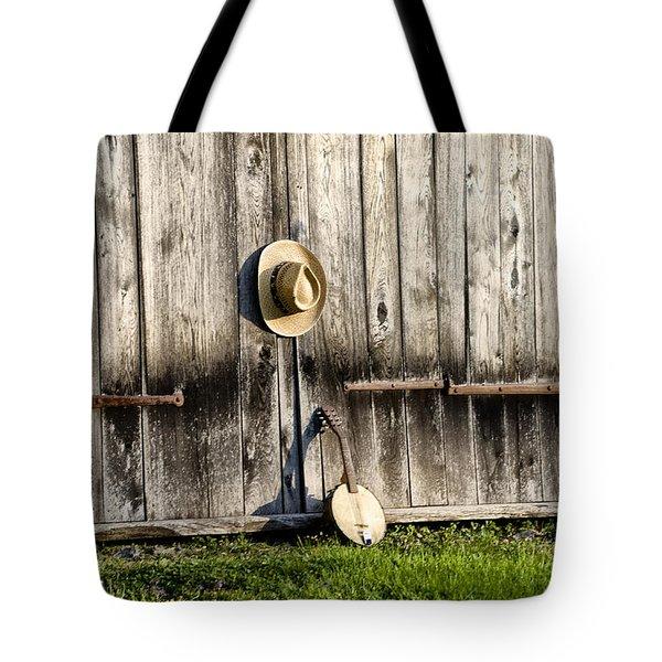 Barn Door and Banjo Mandolin Tote Bag by Bill Cannon