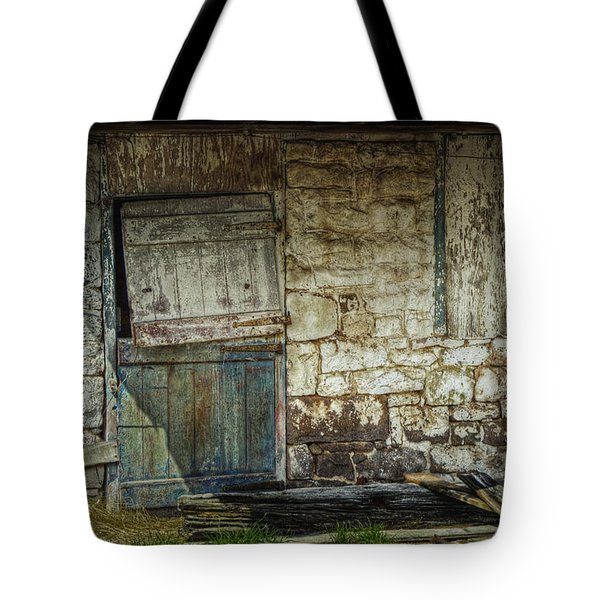 Barn Door Tote Bag by Joan Carroll