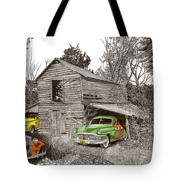 Barn Finds classic cars Tote Bag by Jack Pumphrey