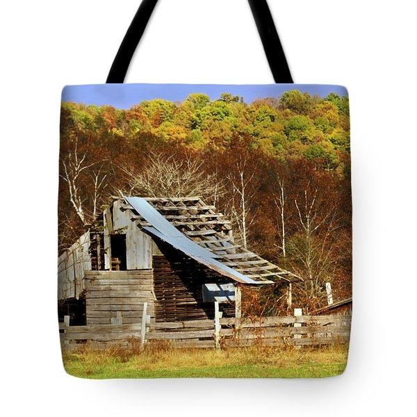 Barn in Fall Tote Bag by Marty Koch