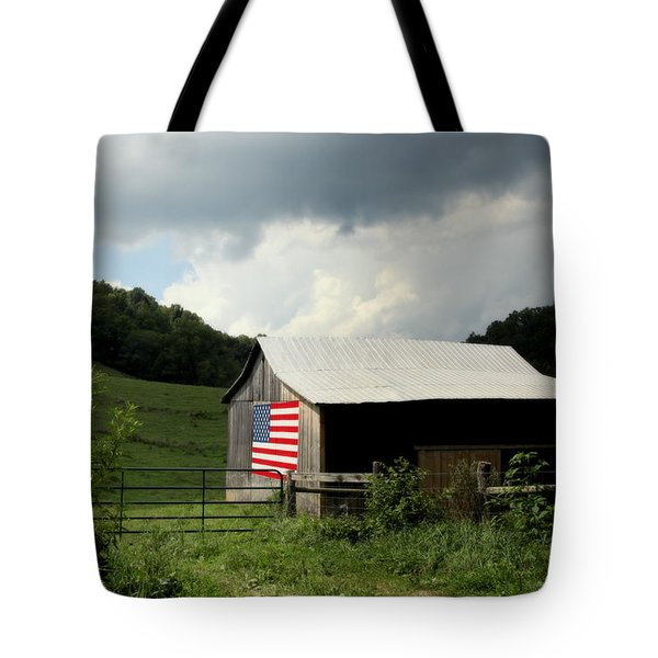 Barn in the USA Tote Bag by KAREN WILES