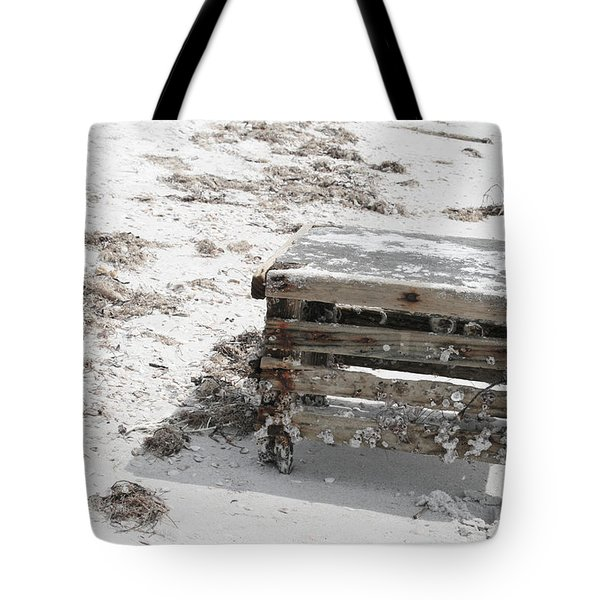 Barnacles On The Beach Tote Bag by Georgia Fowler