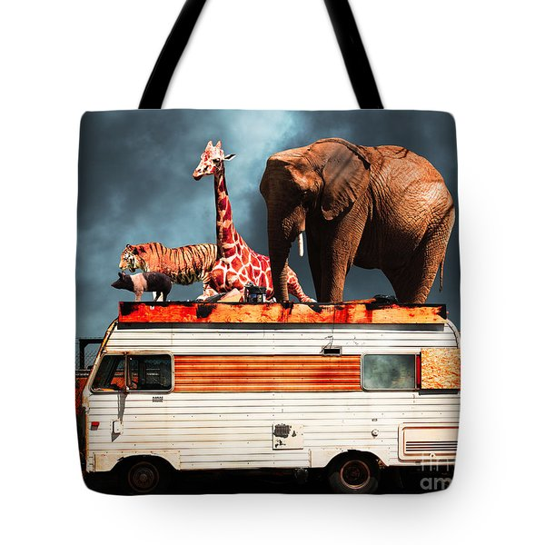 Barnum and Bailey Goes On a Road Trip 5D22705 Tote Bag by Wingsdomain Art and Photography