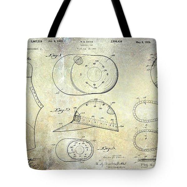 Baseball Patent Panoramic Tote Bag by Jon Neidert