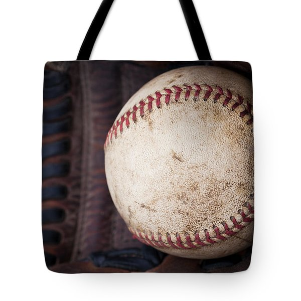 Baseball And Glove Tote Bag by David Patterson