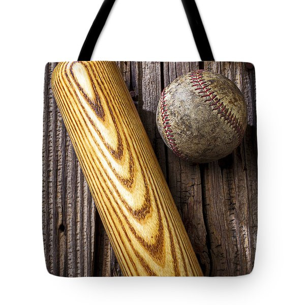 Baseball Bat And Ball Tote Bag by Garry Gay