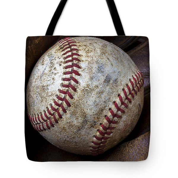 Baseball Close Up Tote Bag by Garry Gay