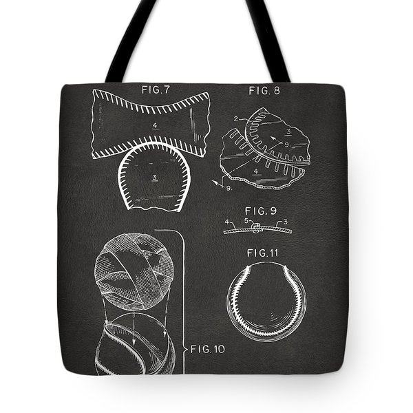 Baseball Construction Patent 2 - Gray Tote Bag by Nikki Marie Smith