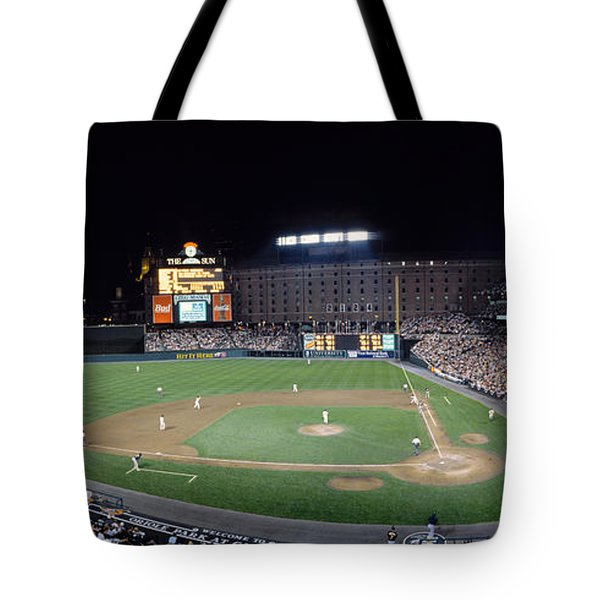 Baseball Game Camden Yards Baltimore Md Tote Bag by Panoramic Images