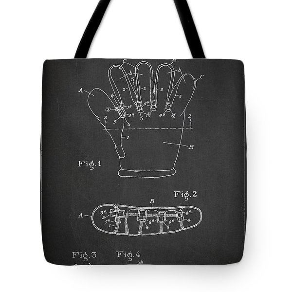 Baseball Glove Patent Drawing From 1922 Tote Bag by Aged Pixel