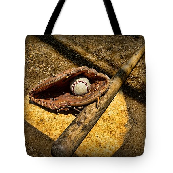 Baseball Home Plate Tote Bag by Paul Ward