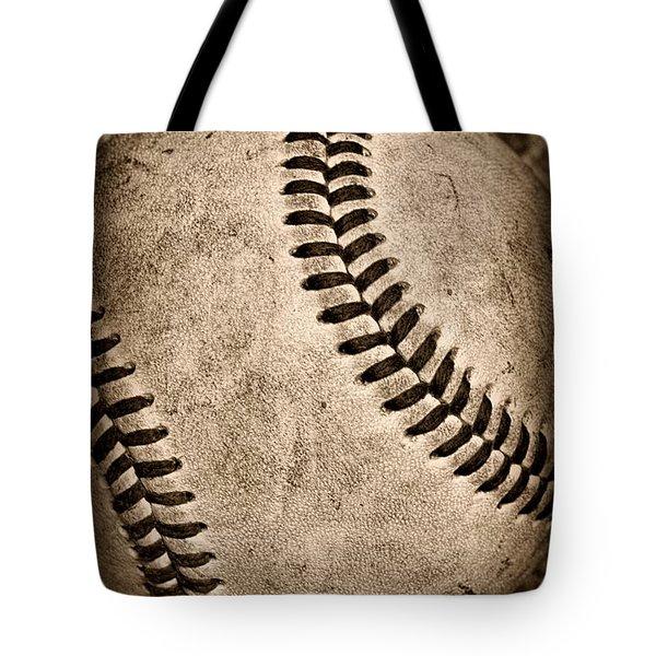 Baseball old and worn Tote Bag by Paul Ward