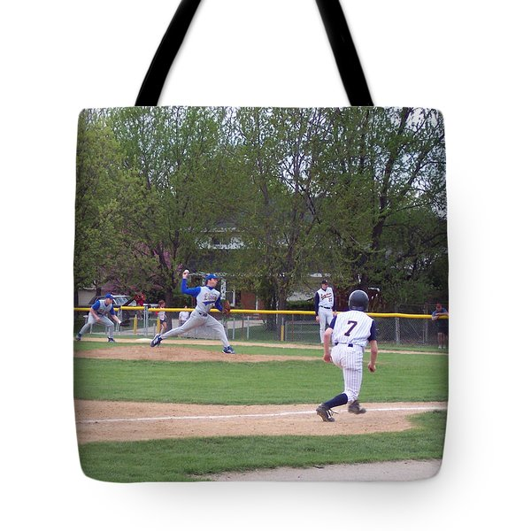 Baseball Pitcher The Delivery Tote Bag by Thomas Woolworth