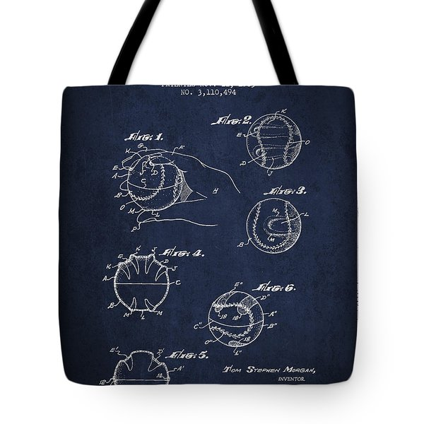 Baseball Training Device Patent Drawing From 1963 Tote Bag by Aged Pixel