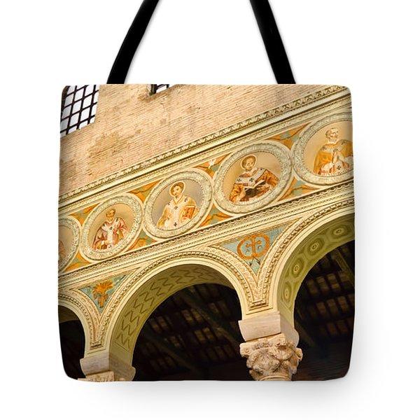 Basilica di Sant' Apollinare Nuovo - Ravenna Italy Tote Bag by Jon Berghoff