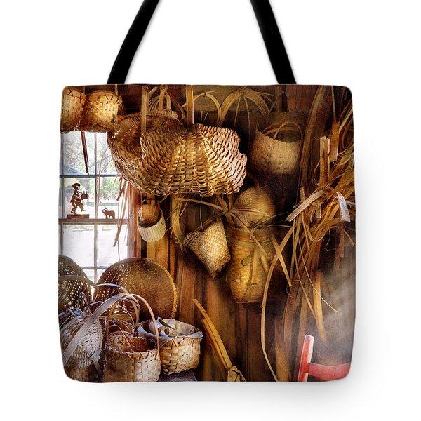 Basket Maker - I Like Weaving Tote Bag by Mike Savad