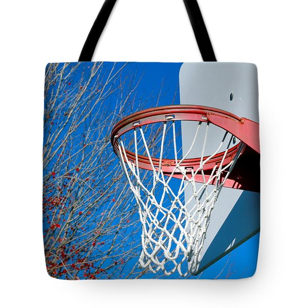 Basketball Net Tote Bag by Valentino Visentini