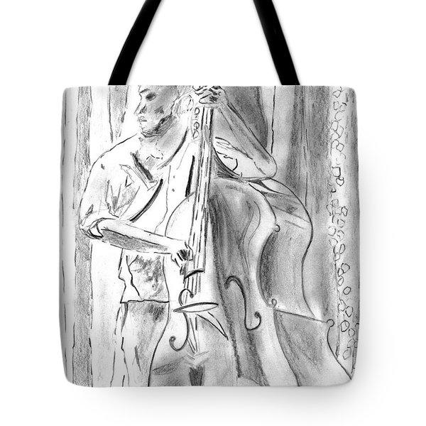 Bass Fiddle Blues Tote Bag by Elizabeth Briggs