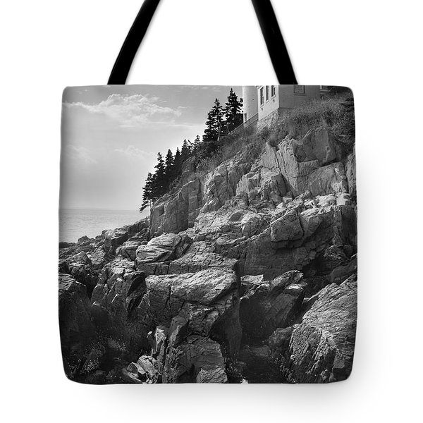 Bass Harbor Light Tote Bag by Mike McGlothlen