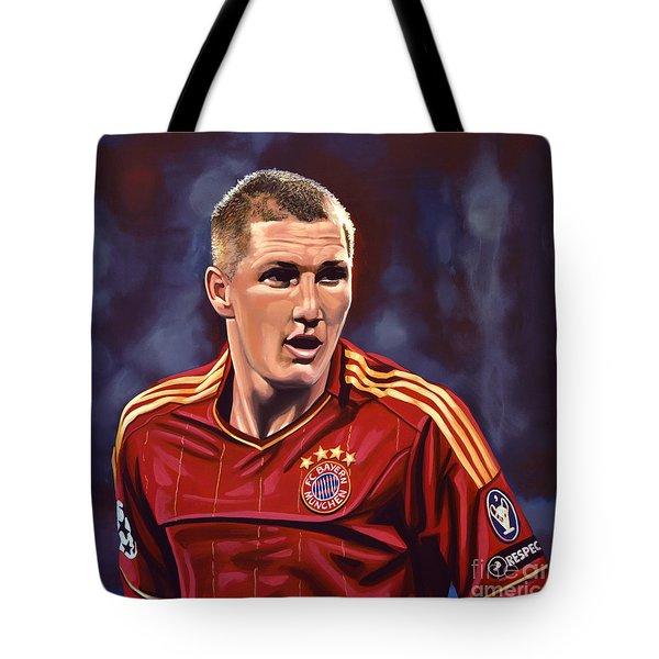 Bastian Schweinsteiger Tote Bag by Paul  Meijering