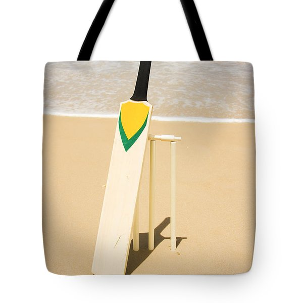 Bat Ball And Stumps Tote Bag by Jorgo Photography - Wall Art Gallery