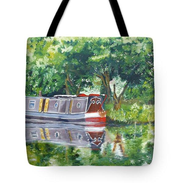 Bateau Sur Riviere Tote Bag by I F Abbie Shores