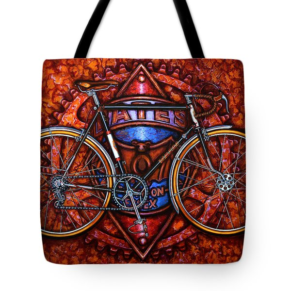 Bates Bicycle Tote Bag by Mark Howard Jones