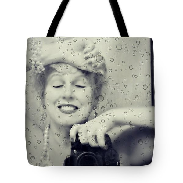 Bath Mirror Tote Bag by Diana Angstadt