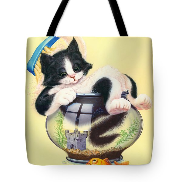 Bath Time Tote Bag by Andrew Farley