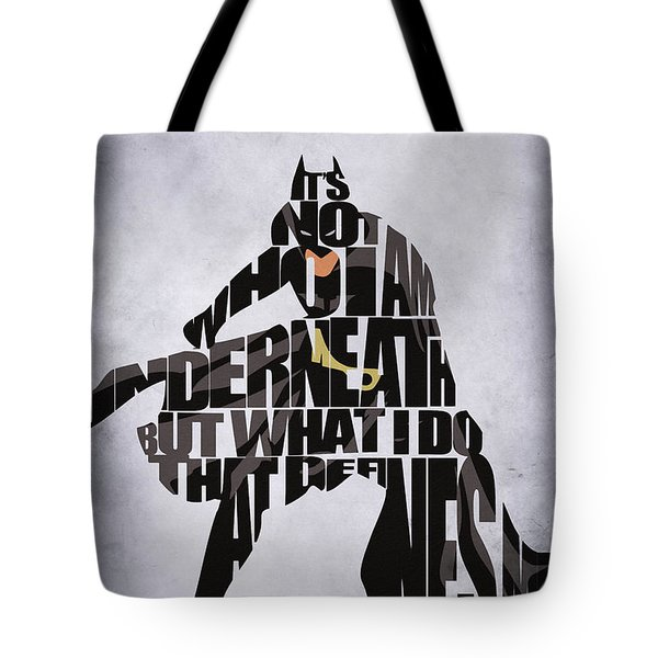 Batman Tote Bag by Ayse Deniz
