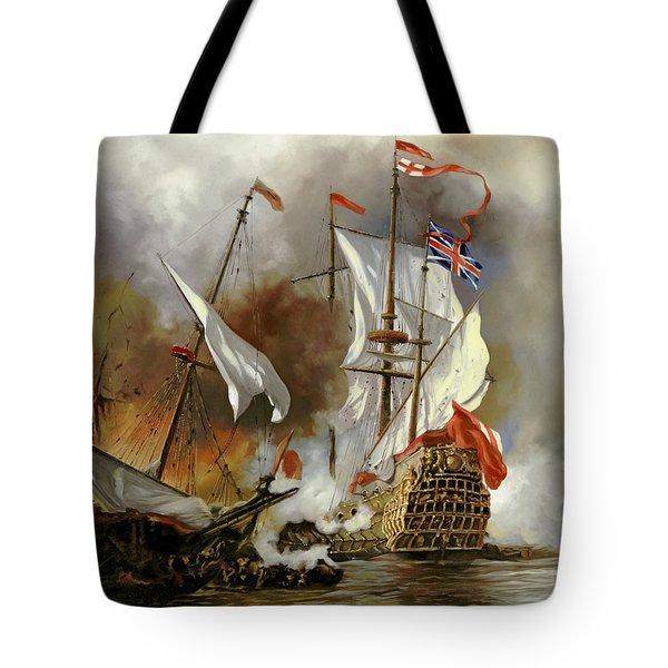 Battaglia Sul Mare Tote Bag by Guido Borelli