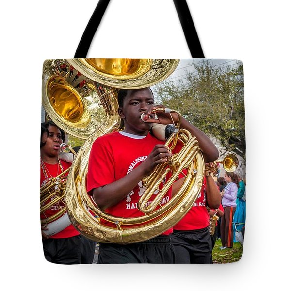 Battered Tuba Blues Tote Bag by Steve Harrington