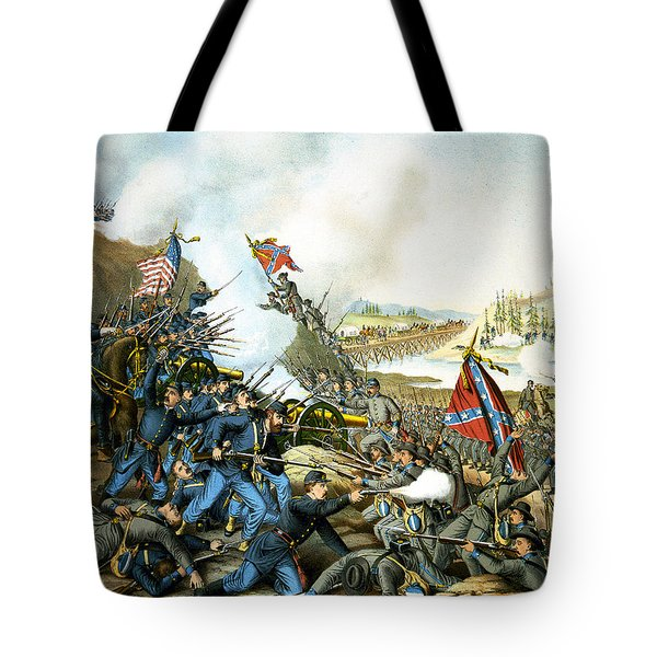 Battle of Franklin Tote Bag by Unknown
