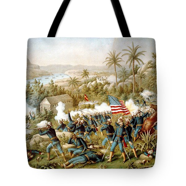 Battle Of Qusimas Tote Bag by Kurz and Allison