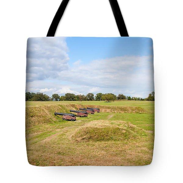 Battle Of Yorktown Battlefield Tote Bag by John M Bailey