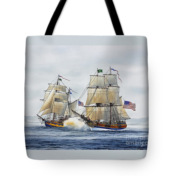 Battle Sail Tote Bag by James Williamson