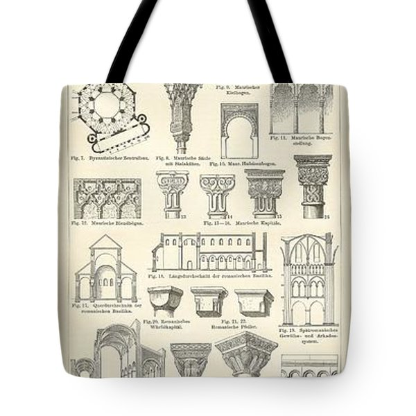Baustile I And Baustile II Tote Bag by German School