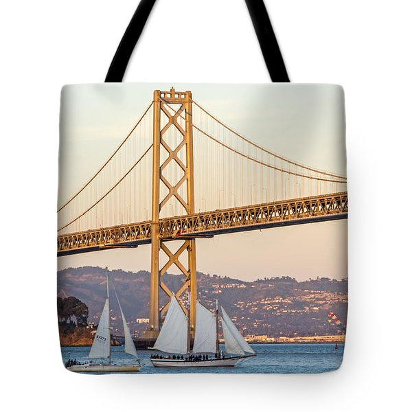 Bay Bridge Gold Tote Bag by Kate Brown
