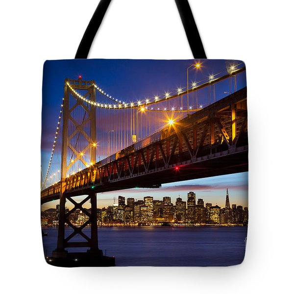 Bay Bridge Tote Bag by Inge Johnsson