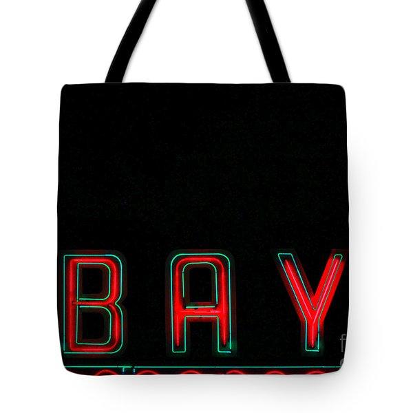 Bay In Neon  Tote Bag by Kris Hiemstra