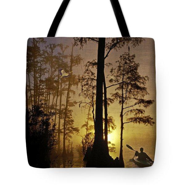 Bayou Sunrise Tote Bag by Lianne Schneider