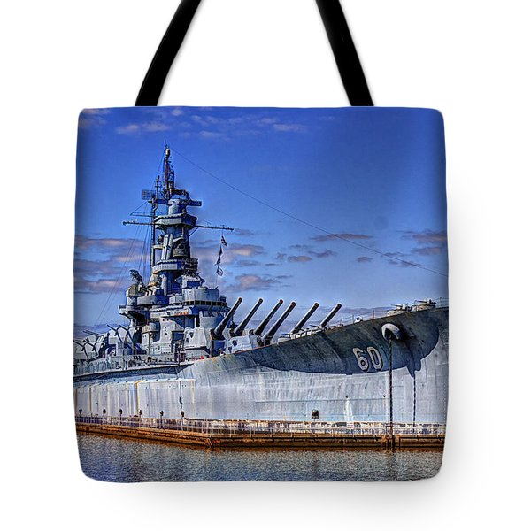 Bb-60 Uss Alabama Tote Bag by Barry Jones