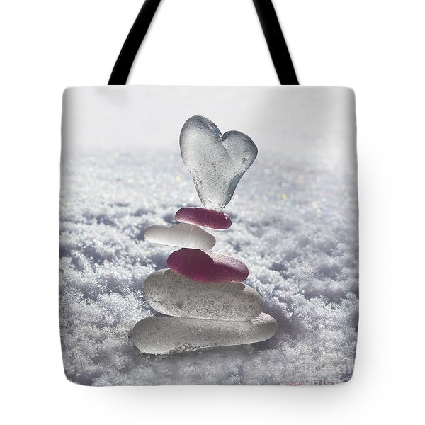 Be Careful With My Heart Tote Bag by Barbara McMahon
